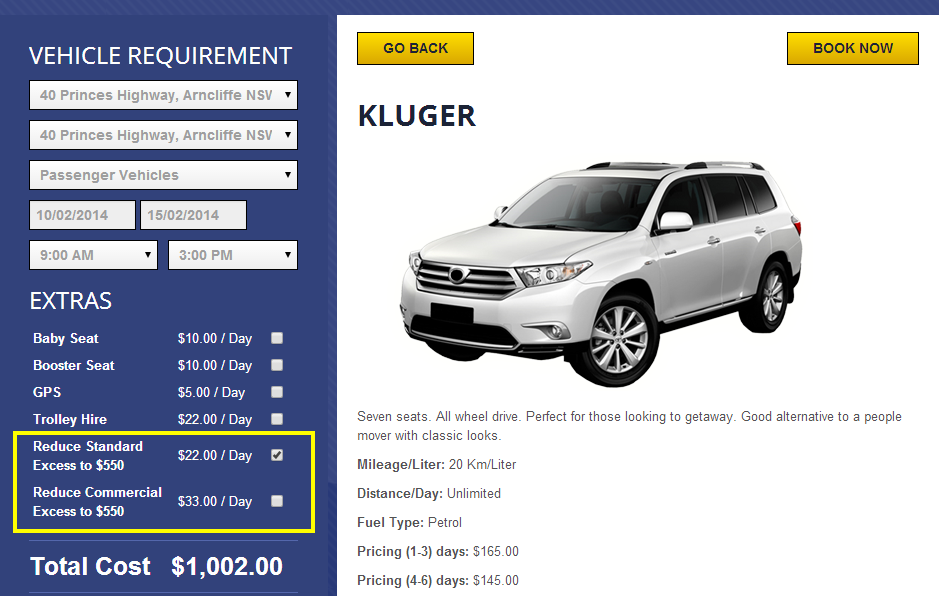 Car Rentals   Car Details